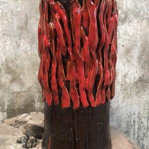 Bình Gốm Nghệ Thuật San Hô Đỏ